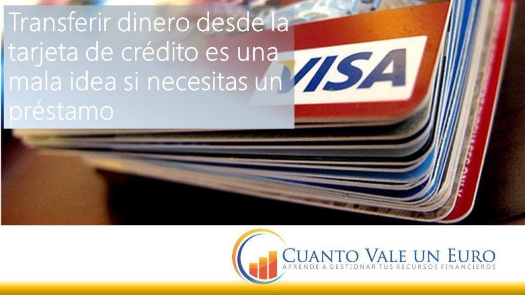 Transferir dinero desde la tarjeta de credito