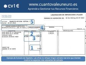 Ejemplo Extracto Depósito CV1E