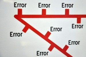 Los 8 Errores más habituales del inversor en Bolsa