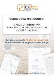 Objetivo Tomar el control checklis 213x300 - Qué aporta el control de gestión en mi pequeña empresa