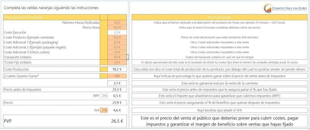 Calculadora de Precios para tus productos