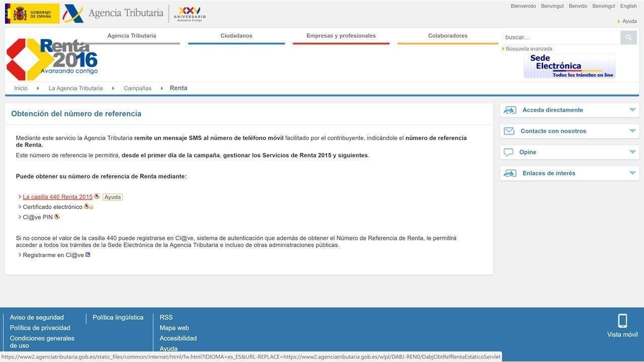 presentar la declaración de la renta con rentaweb